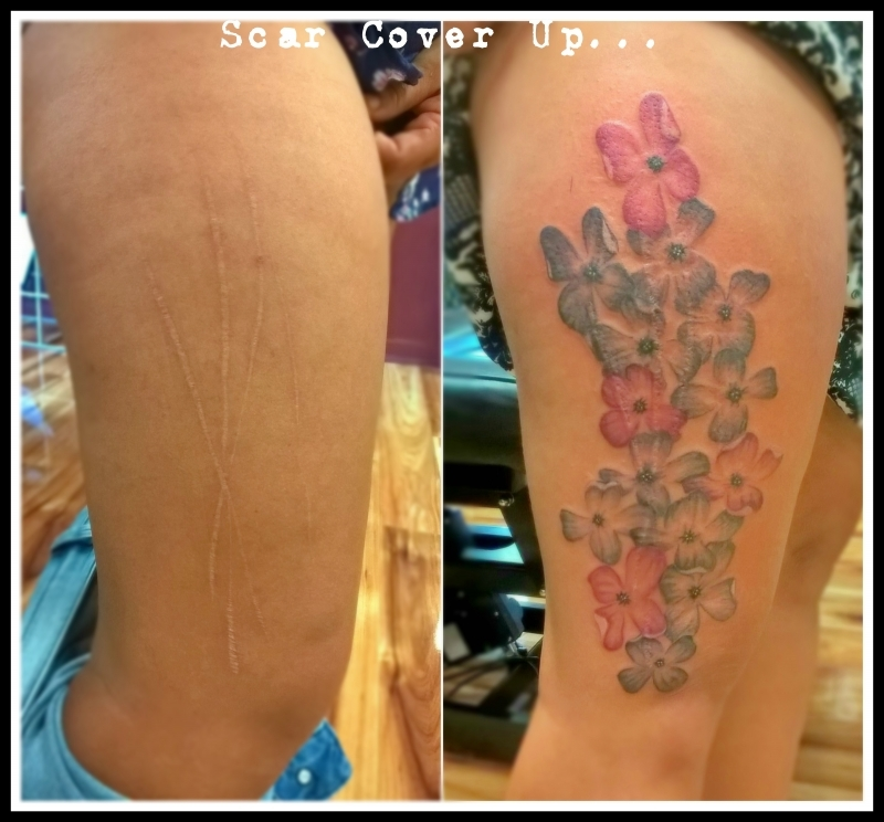 Scar tattoos for Tattoos to cover surgery scars