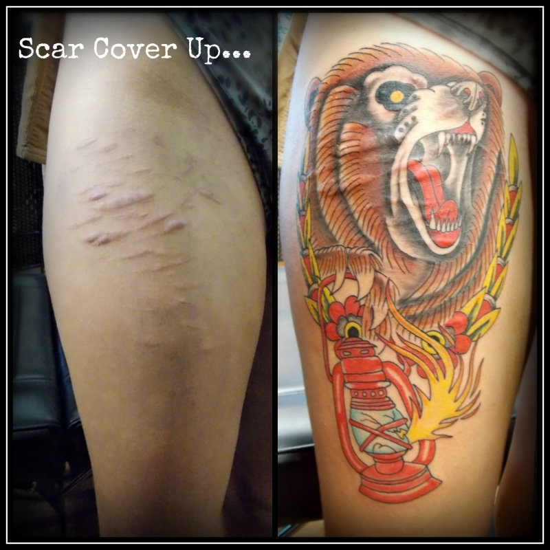 Scar tattoos for How to cover up tattoos for work